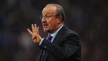 Benitez on the touchline