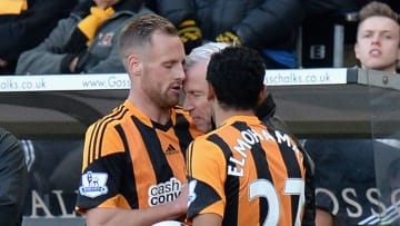 Pardew and Meyler went head to head - literally