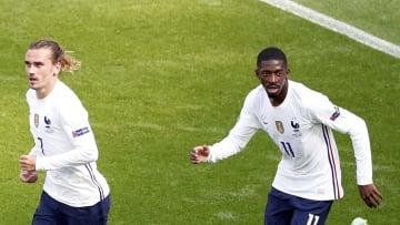 Antoine Griezmann y Ousmane Dembélé