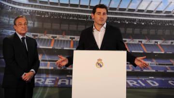 Casillas en su despedida del Real Madrid