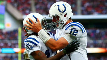 Ty Hilton and Andrew Luck.