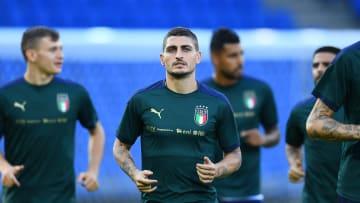 Entrenamiento de la selección italiana
