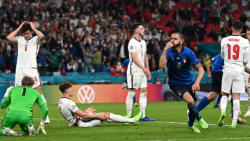 Leonardo Bonucci celebrates his goal in the final