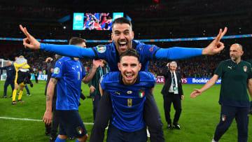 La gioia di Leonardo Spinazzola e Jorginho
