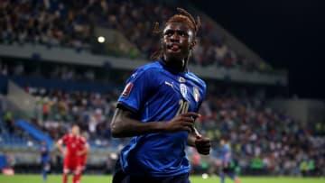 Moise Kean avec l'Italie cette saison