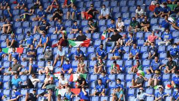 I tifosi italiani all'Olimpico