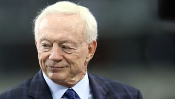 ARLINGTON, TX - OCTOBER 14:  Owner Jerry Jones of the Dallas Cowboys at AT&T Stadium on October 14, 2018 in Arlington, Texas.  (Photo by Ronald Martinez/Getty Images)