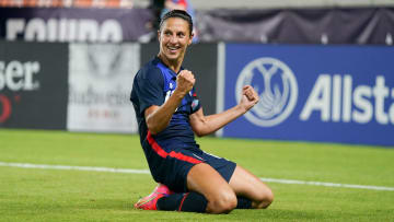 Carli Lloyd after her goal against Jamaica 23 seconds into the match