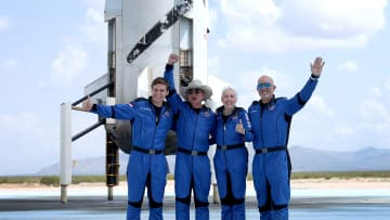 Jeff Bezos' Blue Origin New Shepard Space Vehicle Flies The Billionaire And Other Passengers To