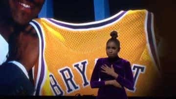 Jennifer Hudson pays tribute to Kobe Bryant at the 2020 NBA All-Star Game