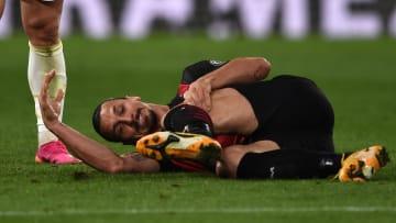 Zlatan Ibrahimovic s'est blessé lors de la victoire de Milan contre la Juventus.