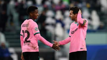 Messi y Ansu Fati en el Juventus Stadium