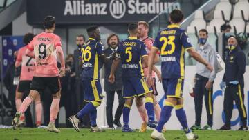 Uno scatto della sfida d'andata tra Juventus ed Hellas Verona