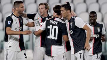 Cristiano Ronaldo, Federico Bernardeschi, Paulo Dybala, Rodrigo Bentancur
