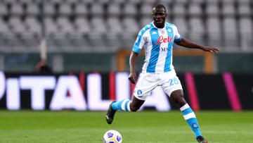 Kalidou Koulibaly of Ssc Napoli  in action during the Serie...