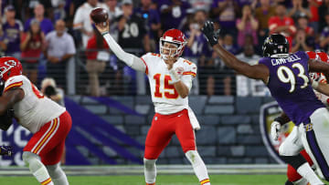 The Chiefs suffered their first loss of the season in Week 2, but remain the favorite to win Super Bowl 56 ahead of the Buccaneers, per FanDuel.