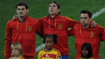 (L to R) Spain's goalkeeper Iker Casilla