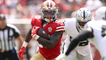 The San Francisco 49ers are trying out three running backs after Elijah Mitchell and Trey Sermon injury updates on Monday.
