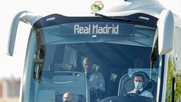 Real Madrid's team bus was damaged near Anfield
