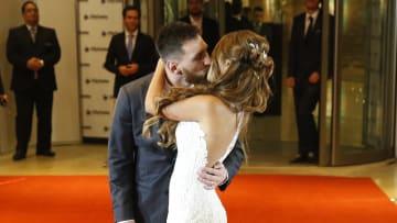 Messi y Antonela el día de su casamiento.