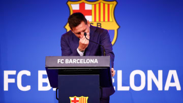 Messi was emotional as he said his goodbyes