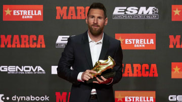 Lionel Messi has won a record six Golden Shoe awards