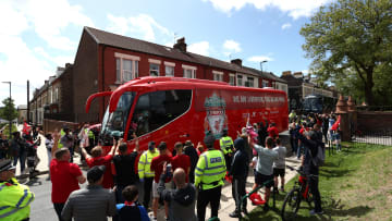 Liverpool's team bus has been stopped