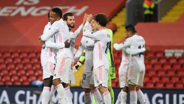 Real Madrid lolos ke semifinal Liga Champions dengan keunggulan agregat gol 3-1 atas Liverpool