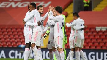 L'esultanza dei giocatori del Real Madrid