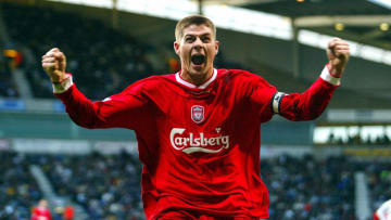 A young Steven Gerrard for Liverpool