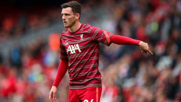 Andy Robertson will be sidelined for a few weeks