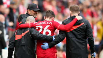Robertson seemed to twist his ankle