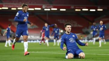 Mason Mount celebrates handing Chelsea the lead