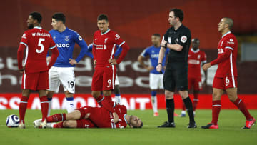 Henderson had to leave the pitch through injury on 28 minutes