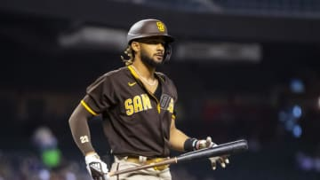 San Diego Padres outfielder Fernando Tatis Jr will need some help if the Padres will end up making the postseason in the National League.   Mark J. Rebilas-USA TODAY Sports