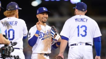 The Los Angeles Dodgers remain the favorites to win the 2021 World Series.   Gary A. Vasquez-USA TODAY Sports