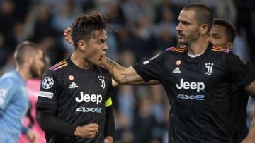 Paulo Dybala, Leonardo Bonucci avec la Juventus Turin cette saison en Ligue des Champions