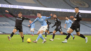 Manchester City travel to Villa Park to take on Aston Villa