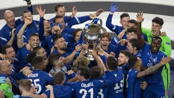 Il Chelsea festeggia la vittoria della Champions League