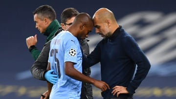 Fernandinho limped off during Man City win over Porto