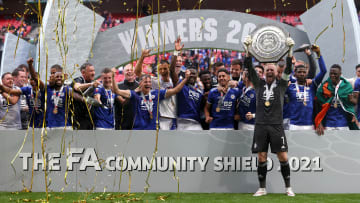 Leicester celebrate lifting the Community Shield