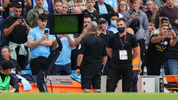 Referee Jonathan Moss endured a busy afternoon as Manchester City and Southampton couldn't be separated