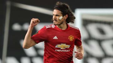Edinson Cavani scored twice against Roma but is out of contract this summer