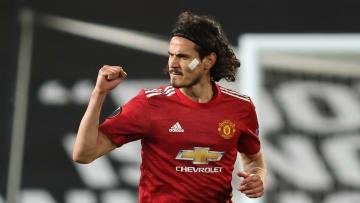 Edinson Cavani was superb in United's win over Roma