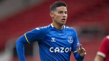 James Rodriguez is looking to leave Everton
