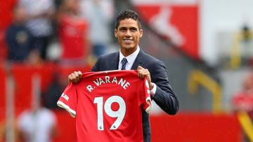 Raphael Varane will wear number 19 for Manchester United