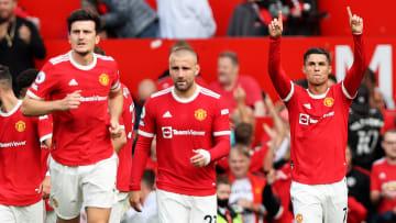 Cristiano Ronaldo; Harry Maguire, Luke Shaw avec Manchester United cette saison