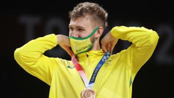 Jock Landale - Men's Basketball Medal Ceremony: Day 15