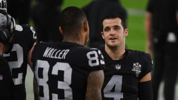 Darren Waller and Derek Carr