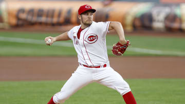Trevor Bauer, Milwaukee Brewers  v Cincinnati Reds